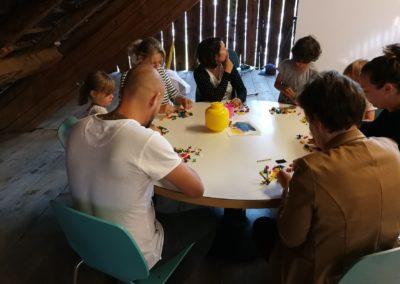 LEGO Serious Play Workshop für Erwachsene. Die Kinder liessen sich nicht abschrecken